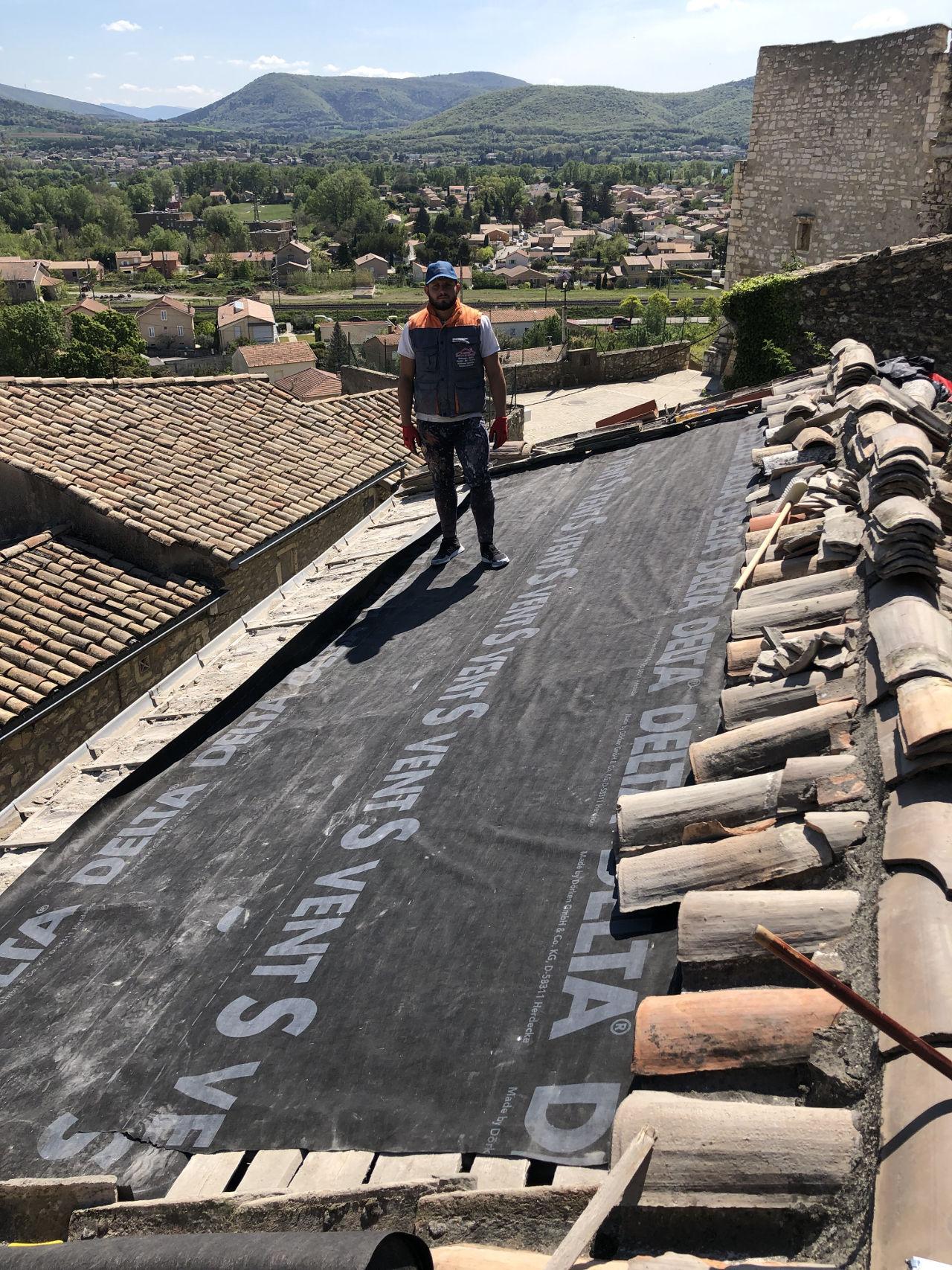 travaux d'étanchéité toiture